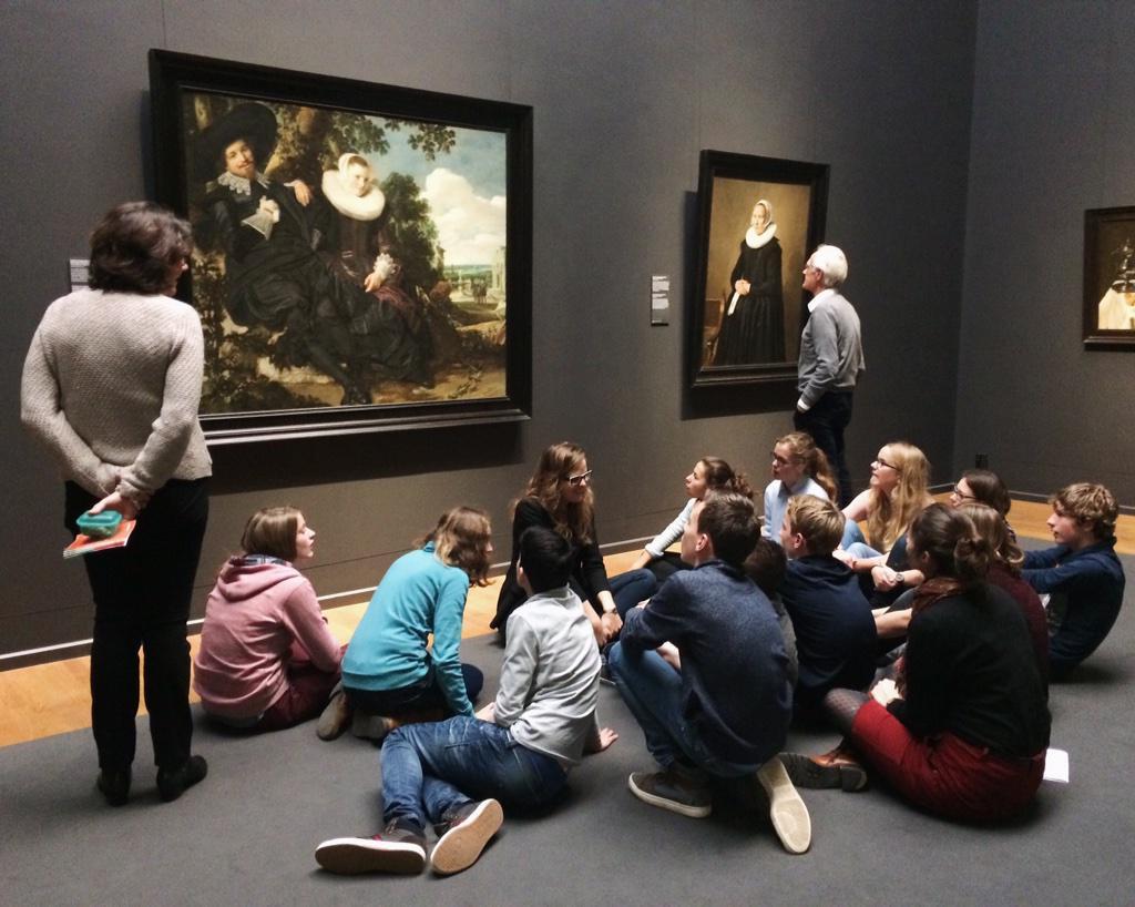 Children interested in art